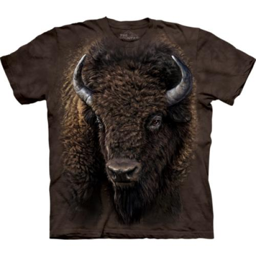 Tričko unisex The Mountain American Buffalo - hnědé