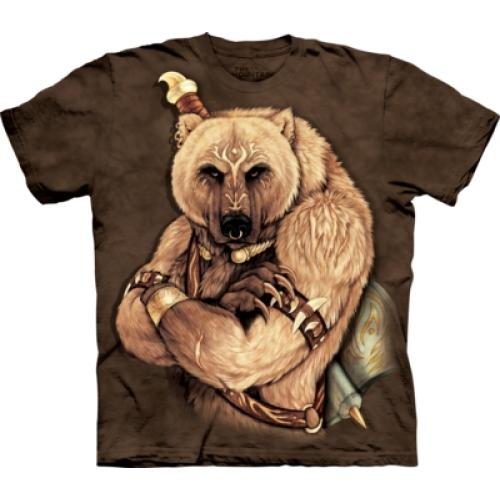 Tričko unisex The Mountain Tribal Bear - hnědé