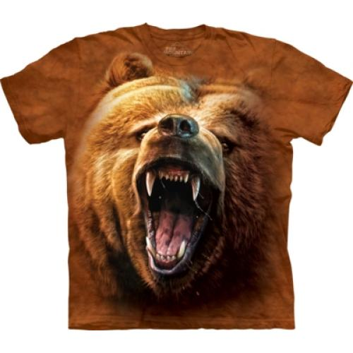 Tričko unisex The Mountain Grizzly Growl - hnědé