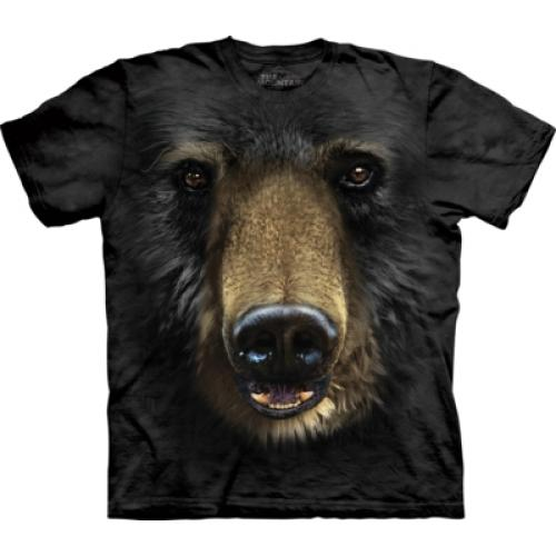 Tričko unisex The Mountain Black Bear Face - černé