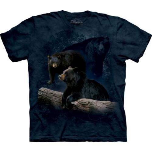 Tričko unisex The Mountain Black Bear Trilogy - modré