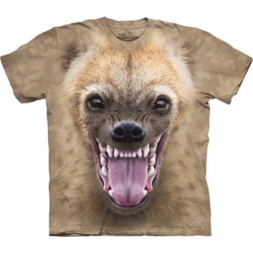 Tričko unisex The Mountain Big Face Hyena - béžové