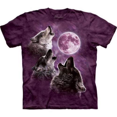 Tričko detské The Mountain Three Wolf Moon in Purple - fialové