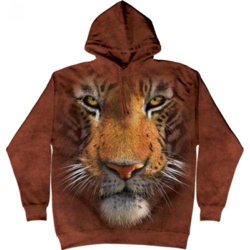 Mikina The Mountain Hoodie Tiger Face - hnedá