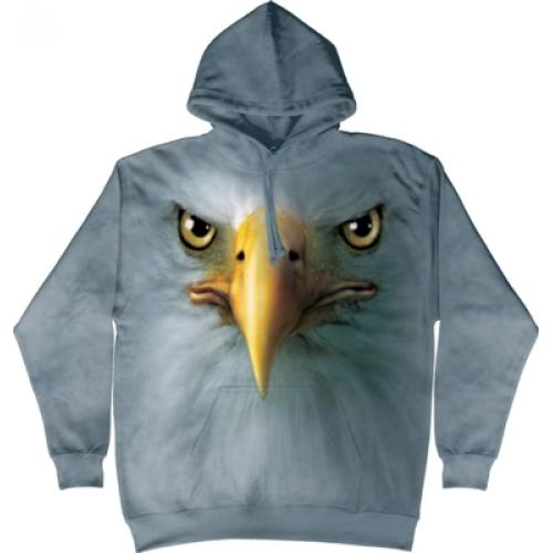 Mikina The Mountain Hoodie Eagle Face - modrá