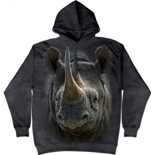 Mikina The Mountain Hoodie Black Rhino - šedá