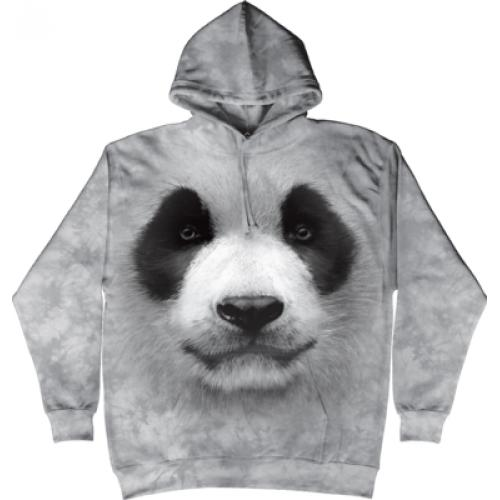 Mikina The Mountain Hoodie Big Face Panda - šedá