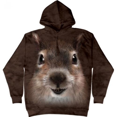 Mikina The Mountain Hoodie Squirrel Face - hnedá