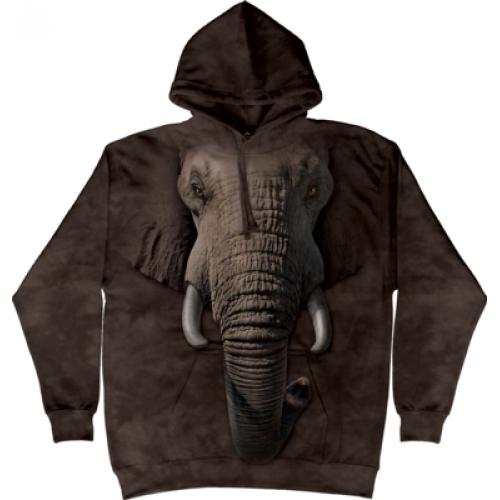 Mikina The Mountain Hoodie Elephant Face - hnědá
