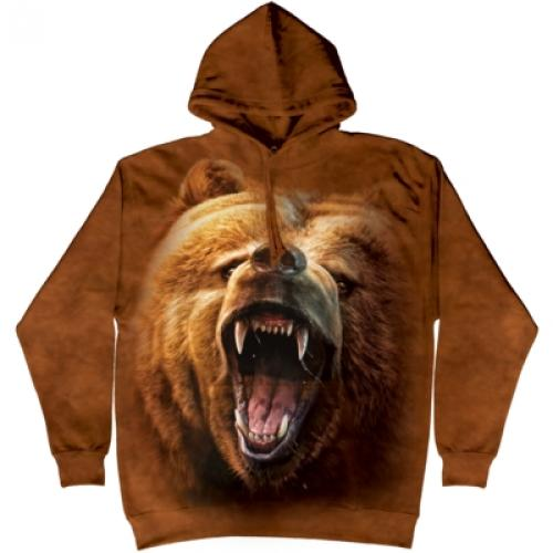 Mikina The Mountain Hoodie Grizzly Growl - hnedá