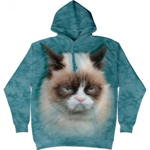 Mikina The Mountain Hoodie Grumpy Cat - modrá