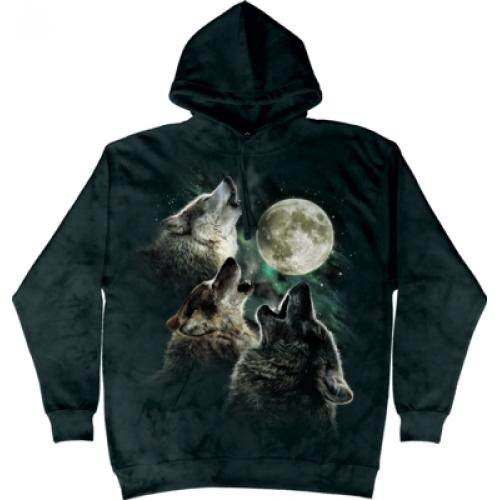 Mikina The Mountain Hoodie Three Wolf Moon - šedá