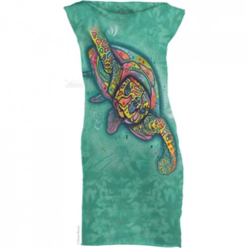Šaty The Mountain Mini Dress Russo Turtle - modré