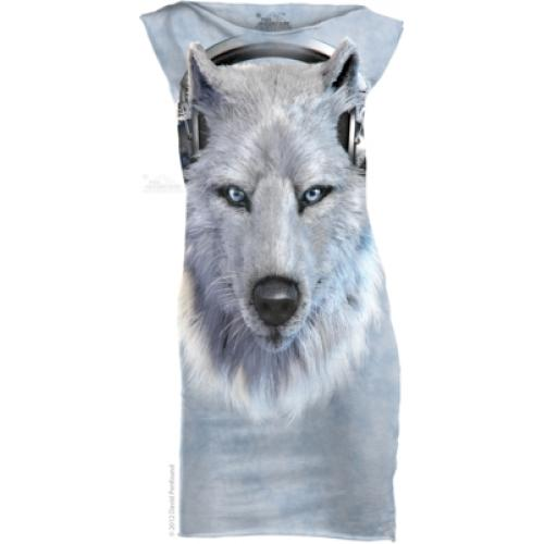 Šaty The Mountain Mini Dress White Wolf DJ - modré