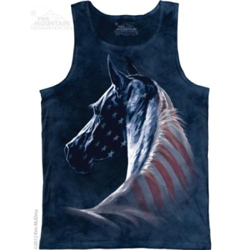 Tielko unisex The Mountain Patriotic Horse - modré