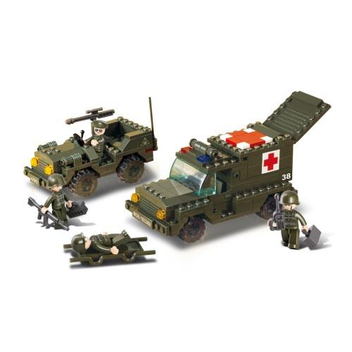 Stavebnice Sluban Army Jeep a Ambulance M38-B6000