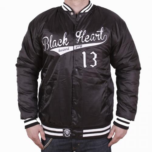 Bunda Black Heart Baseball - čierna