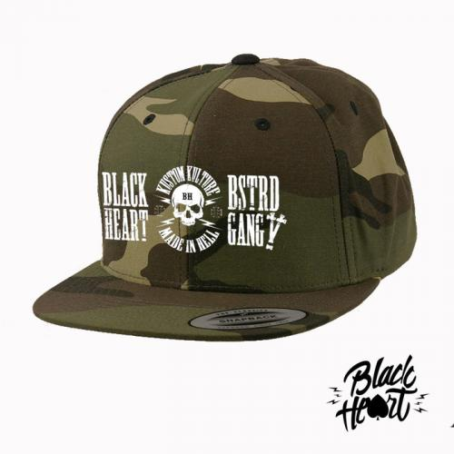 Kšiltovka Black Heart Snapback Wrench - woodland