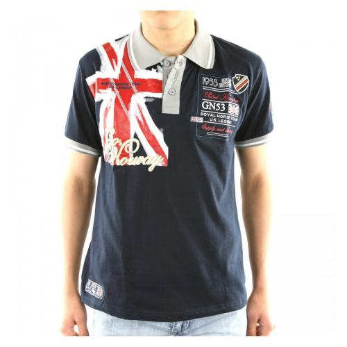 Polokošeľa Geographical Norway Kilt - navy