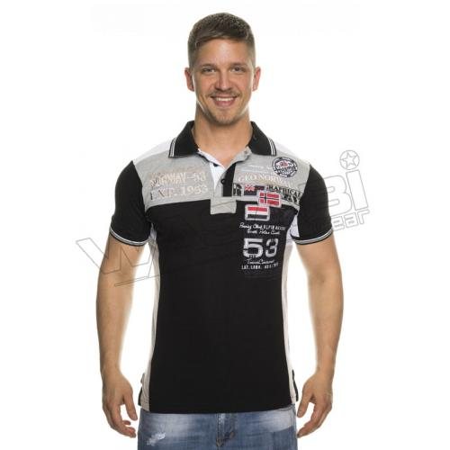 Polokošeľa Geographical Norway Keeper - čierna