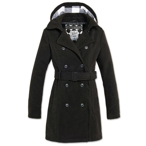 Kabát Brandit Girls Coat Long - čierny