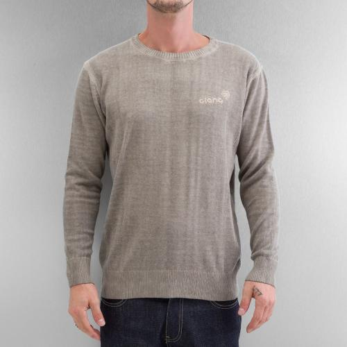 Mikina Clang Oilwashed Knitted - khaki