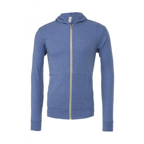 Mikina Bella Triblend Full-Zip Lightweight - modrá