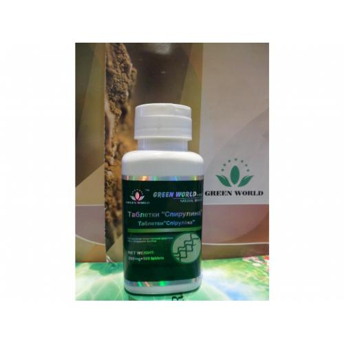 Green World Spirulina 500 kapslí