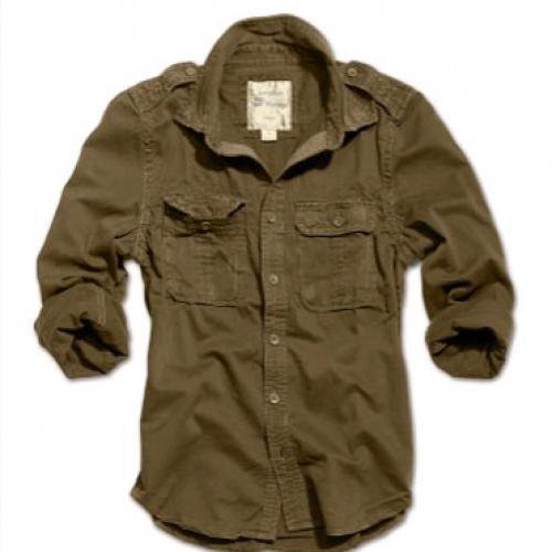 9c0280e738c8 Košeľa Raw Vintage dlhý rukáv - olivová - Army a outdoor vybavenie