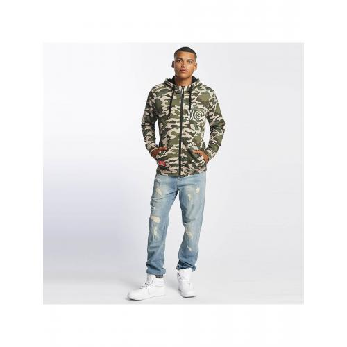 Mikina na zip Who Shot Ya? Camo - woodland