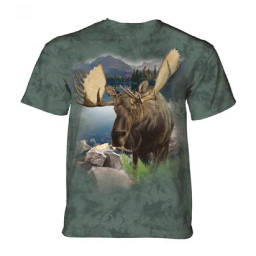 Tričko unisex The Mountain Monarch of The Forest Moose - zelené
