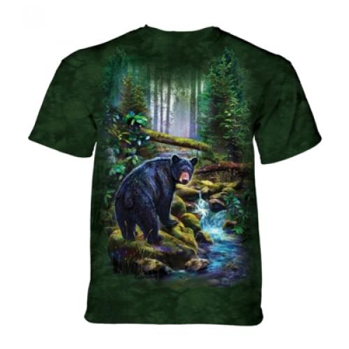 Tričko unisex The Mountain Black Bear Forest - zelené