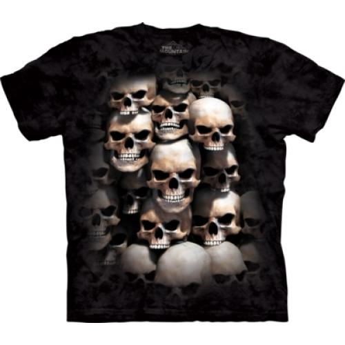 Tričko unisex The Mountain Skull Crypt Dark Fantasy - čierne