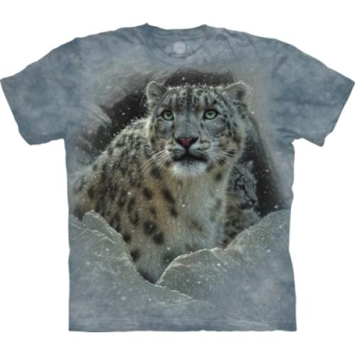 Tričko unisex The Mountain Fortress Snow Leopard - modré