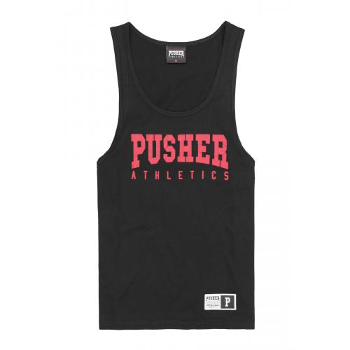 Tielko Pusher Athletics Tanktop - čierne