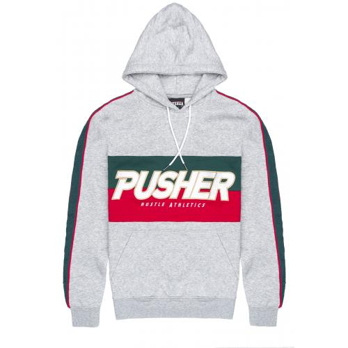 Mikina s kapucí Pusher Athletics Hustle Hoody - šedá