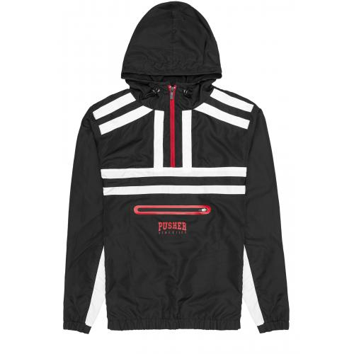 Bunda Pusher Athletics Authentic Windbreaker - čierna