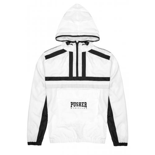 Bunda Pusher Athletics Authentic Windbreaker - bílá