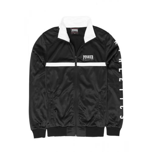 Bunda Pusher Athletics Track Jacket - čierna