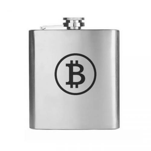 Placatka nerez Hip Flask 210 ml Bitcoin