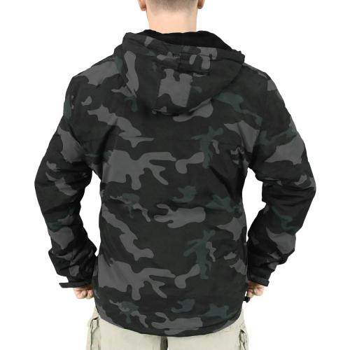 Bunda Windbreaker Zipper - blackcamo