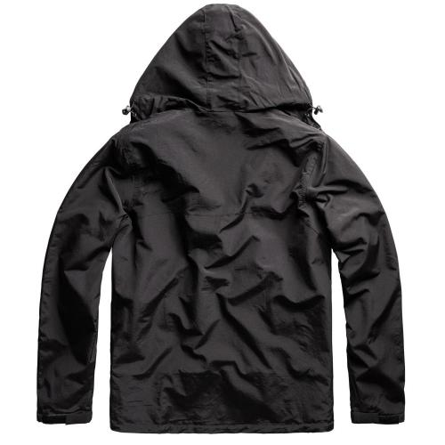 Bunda Windbreaker Zipper - čierna